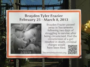 Brayden Frazier dies from circumcision