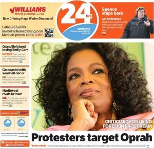 Oprah Winfrey promoting TNS Recovery Complex