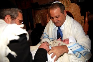 jewish boy being circumcised